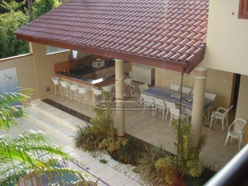 Vista da varanda dos quartos para área de Churrasco e Espaço Gourmet